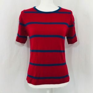 Givenchy VTG $650 Short Sleeve Crewneck Stripe Top